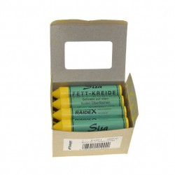 Schrader Tyre Chalk - Yellow, pack 12