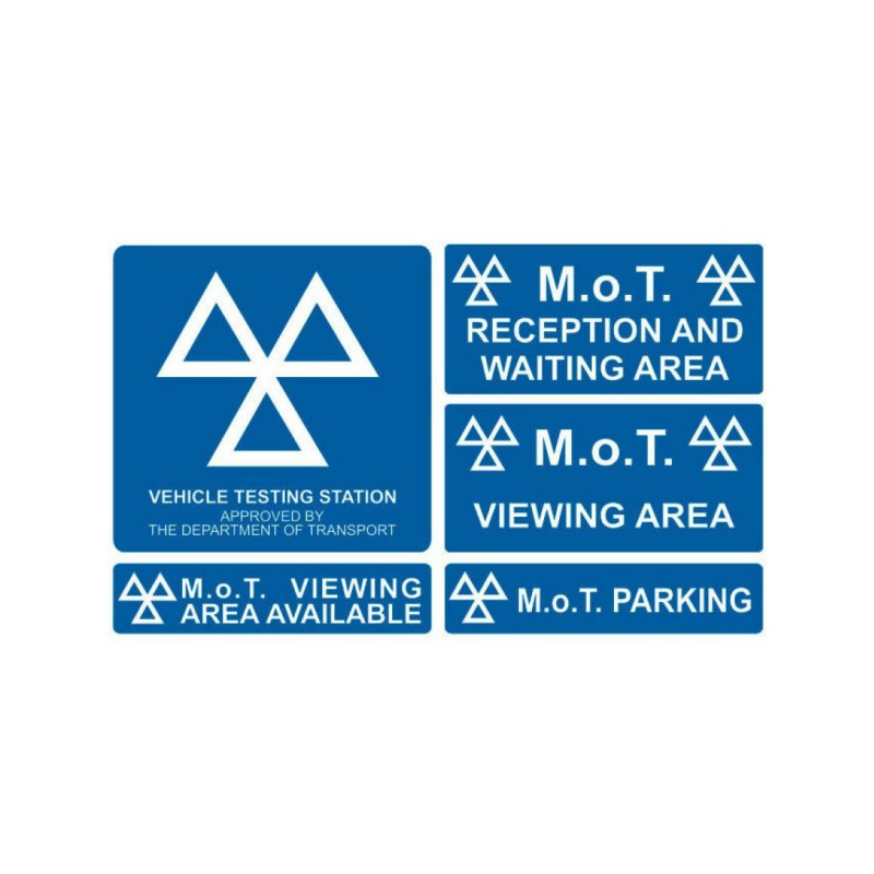 MoT Sign Kit (5 Signs)